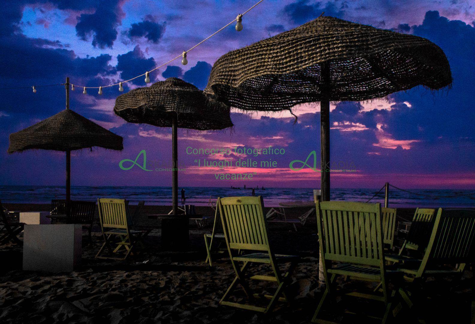 chiringuito sulla spiaggia di rimini