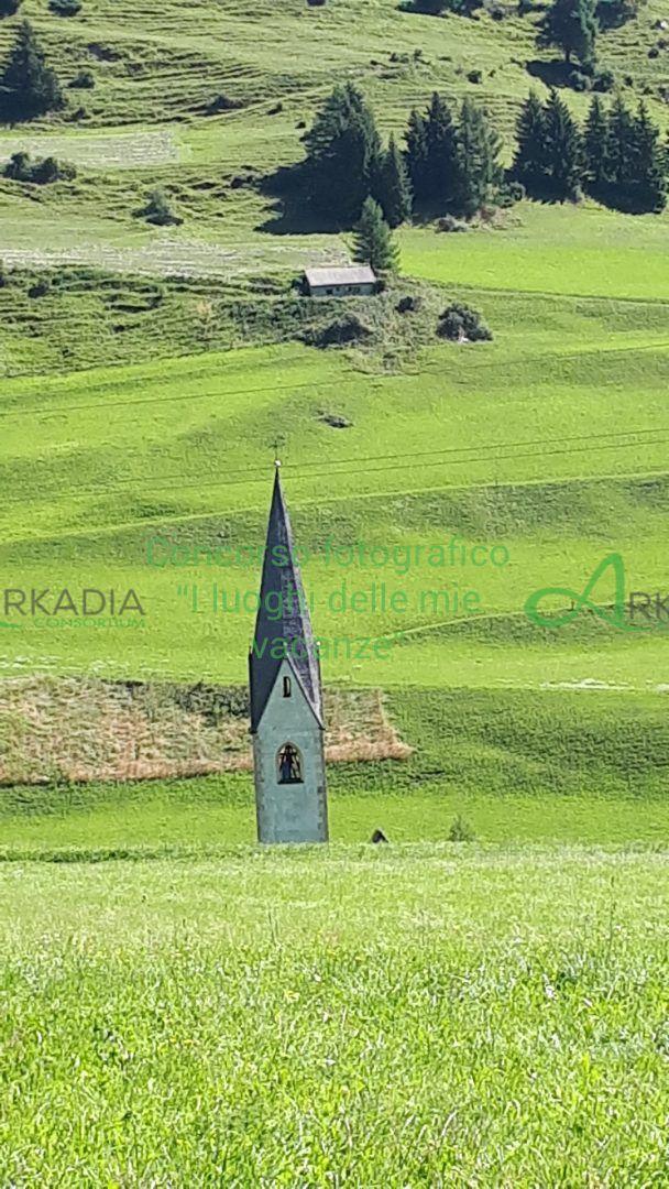 il campanile che nasce dal verde