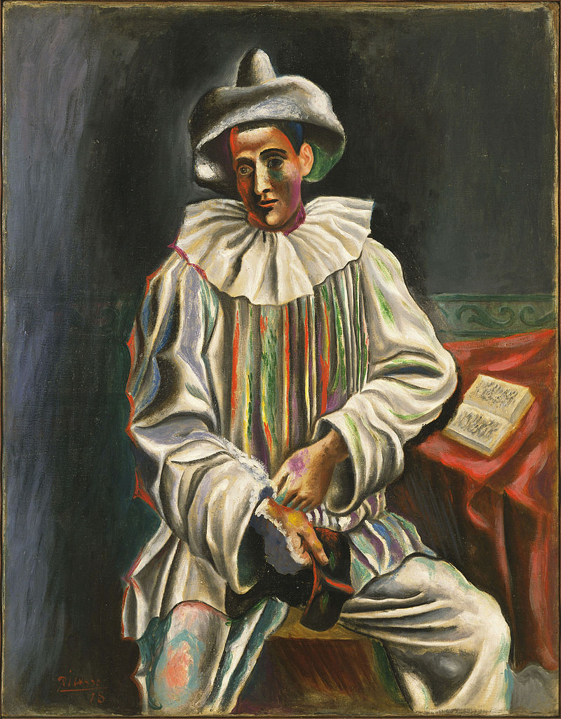 Pablo_Picasso,_1918,_Pierrot,_oil_on_canvas,_92.7_x_73_cm,_Museum_of_Modern_Art